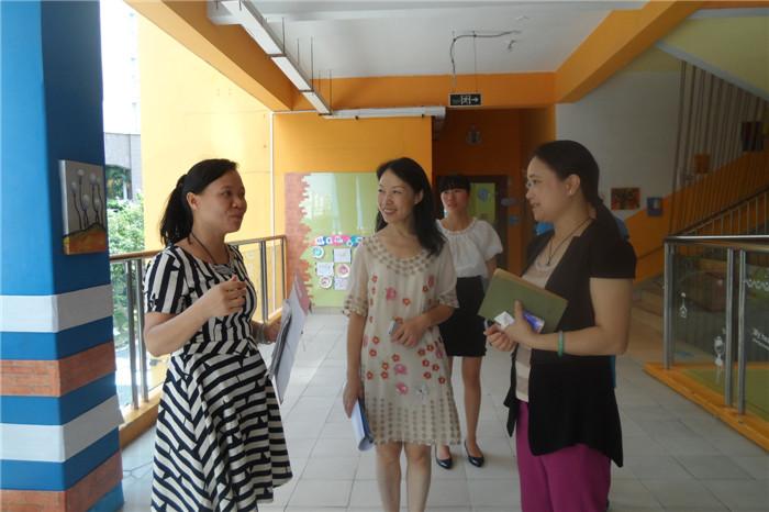市一级幼儿园复评专家成员与集团副总裁麦总